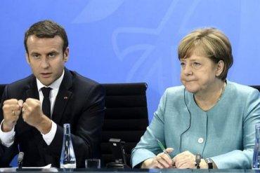Меркель и Макрон выразили неудовлетворение ситуацией на Донбассе